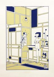 Zeefdruk The future of Piet Mondriaan, Joost Swarte