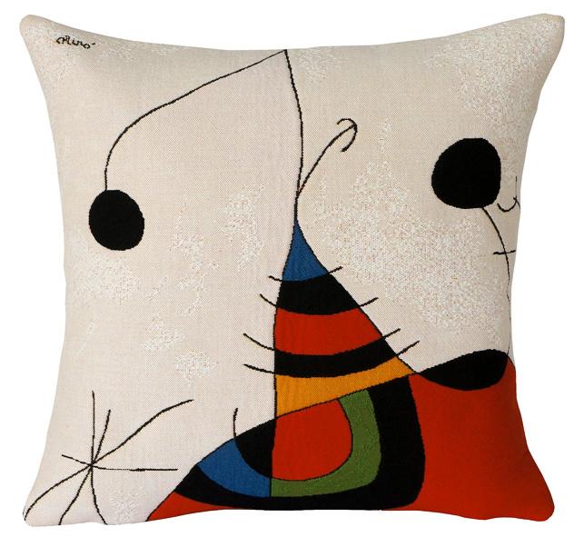 Kussenhoes Femme, oiseau, étoile -Miró