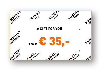 Giftcard € 35,-  Kunsthalwinkel