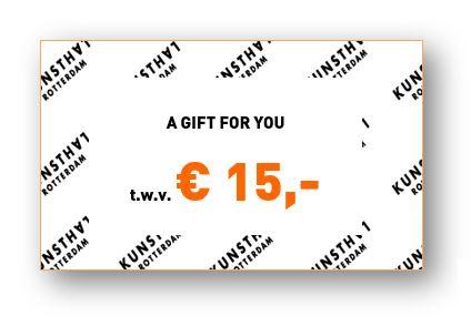 Giftcard € 15,-  Kunsthalwinkel