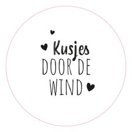 """Muurcirkel """"Kusjes door de wind"""""""