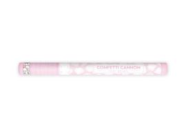 Confetti kanon met witte rozenblaadjes (60cm)