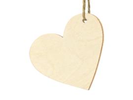 Minikaartje houten hart