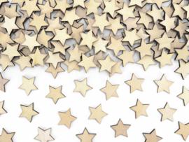 Houten sterretjes (50 stuks) 2x2cm