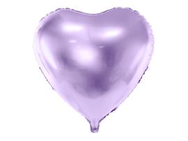 Folieballon paars hart 60cm
