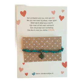 Kaart met armband en een hartje