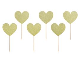 Cupcake prikkers jaardag gouden ster