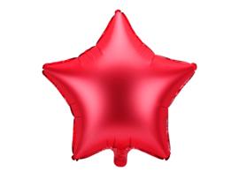 Ster ballon rood