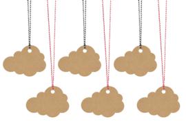 Wolken kaartjes (6 stuks) 7,5 x 5,5 cm