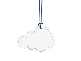 Wolken labels (6st)