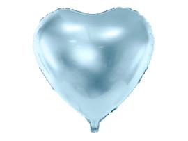 Hart ballon blauw