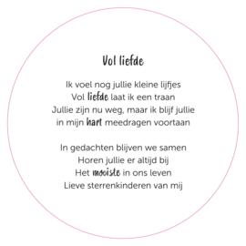 "Muurcirkel ""Vol liefde"" meerling"