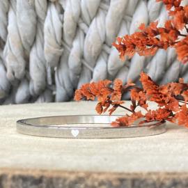 RVS armband met hart (zilver)