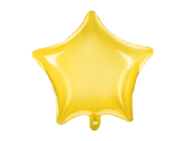 Folieballon gele ster doorzichtig (48cm)