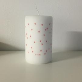 By Kimmi stompkaars met roze hartjes