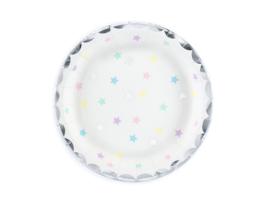 Borden met gekleurde sterretjes (6st)