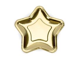 Gouden sterren borden (6st)