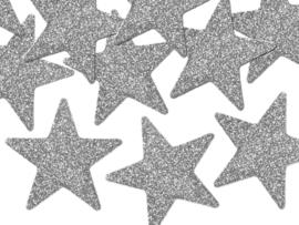 Zilveren sterren 5cm (8st)