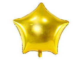 Folieballon gouden ster (48cm)