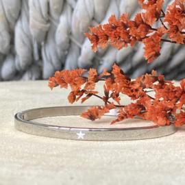 RVS armband met ster  (zilver)
