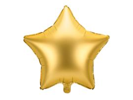 Ster ballon goud (mat)
