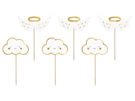Cupcake prikkers wolkjes en engelvleugels