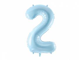 Folieballon cijfer 2 (86 cm)