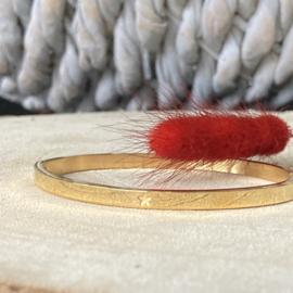 RVS armband met ster  (goud)
