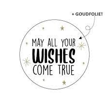 """Sluitstickers """"May all your wishes come true"""""""
