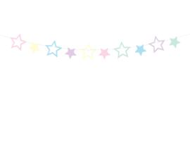 Slinger met gekleurde sterren 1,4m