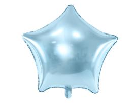 Folieballon blauwe ster 48cm
