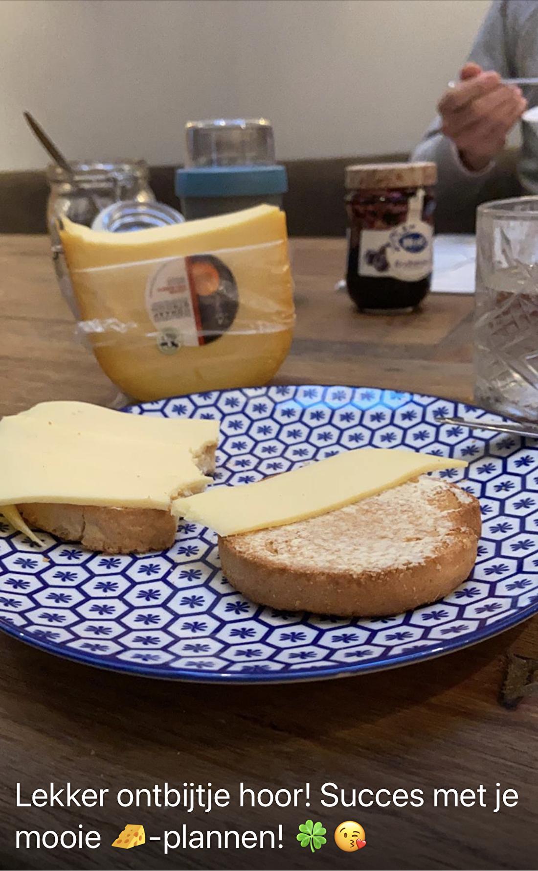 Hart voor Kaas beschuitje ontbijt Graafstroomkaas onine
