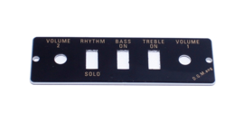 Guitar/Bass Control Panel Plate HA2B-B