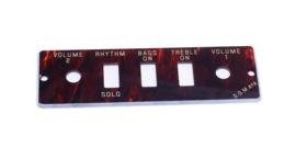 Guitar/Bass Control Panel Plate HA2B-T
