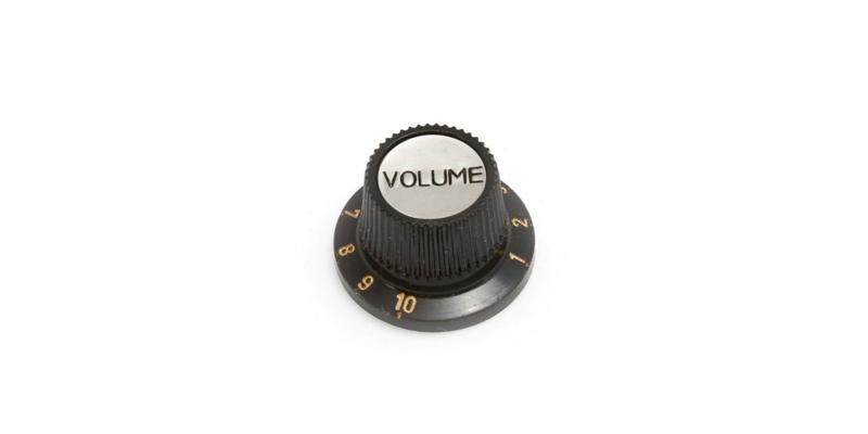 Black Guitar/Bass Knob H909/50BV