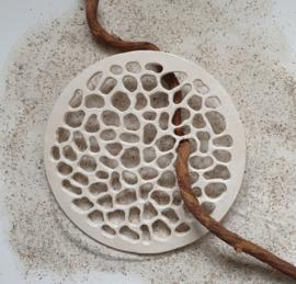 Keramische Schijf Organic Antiek Wit