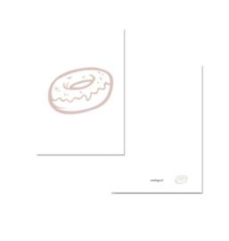 Kaartje A7 - Donut roze