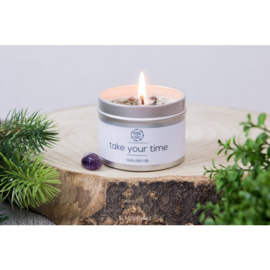 Herbal Candle - Take Your Time - Amethist