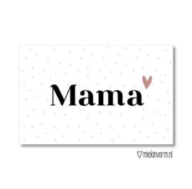 Mini kaartje - mama