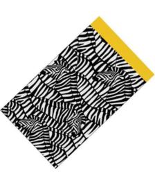 Zebra zwart/wit/geel - 7 x 13