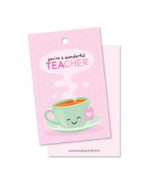 Cadeau label - Wonderful teacher