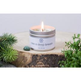 Herbal Candle - Take a Deep Breath - Groene Aventurijn