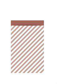 Stripe zacht rood - 27 x 34