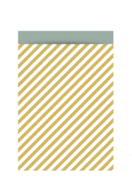 Stripes oker - 17 x 25