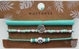 Armband set mint life tree