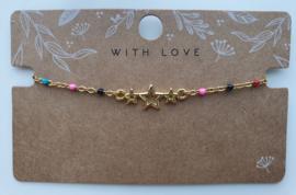 RVS gouden armbandje primair stars