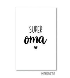 Mini kaartje - super oma