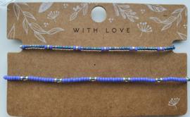 Arm- en enkelbandje peacock (zilver)