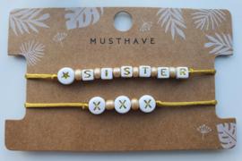 Armbandjes sister xxx (5)