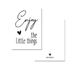 Kaartje A7 - enjoy the little things - wit